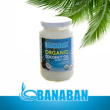 BANABAN CERTIFIED ORGANIC Extra Virgin Coconut Oil FIJI - 350ml Glass