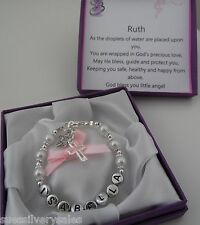 Baby Girl Baptism Christening God Daughter  bracelet personalised gift box