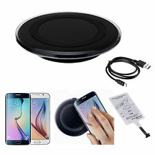 New Qi Wireless Charger Charging Pad+Receiver Kit for Samsung Galaxy S3 S4 Note3
