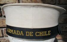 CHILEAN NAVY SAILOR CAP HAT 1980s GORRA DE MARINERO DE LA ARMADA MARINA CHILE