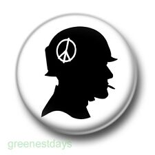 Anti War Soldier 1 Inch / 25mm Pin Button Badge Peace Freedom Love Hippy Flowers