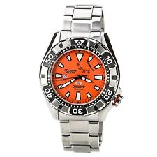 Orient SEL03002M Men's M-Force Automatic Power Reserve Orange Dial Watch-Pre-own