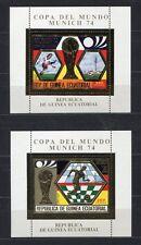 s5168) GUINEA ECUATORIAL 1974 MNH** WC Football -CM Calcio S/S x2 GOLD