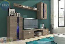 TV Wall Unit New Modern Set of Living room Furniture  /Nelson Elm/