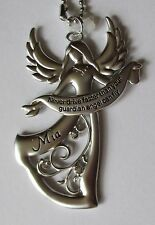h Mia Never Drive faster than your GUARDIAN ANGEL can fly CAR CHARM ornament