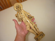 "Vintage 1950-1960's Antique 11"" Oriental Figurine Toy - Early Plastic Molded"