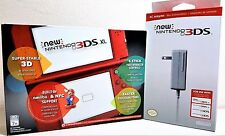 New Nintendo 3DS XL Red Handheld Console System + Charger, Fast Free Shipping