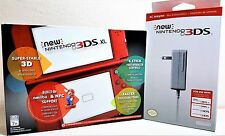 New Nintendo 3DS XL Red Console System Bundle + Charger Free Expedited Shipping