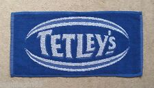 Tetley's Bitter Beer Blue Rugby Bar Towel Pub Home Bar Man Cave New Unused