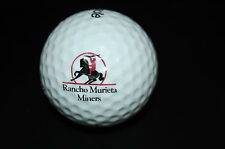 OLD USED GOLF BALL LOGO Rancho Murieta Country Club , CA Course Links Related