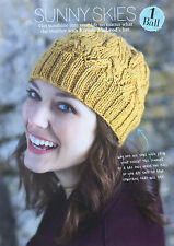 KNITTING PATTERN Ladies Twisted Cable Patterned Hat Accessory Lion Brand PATTERN