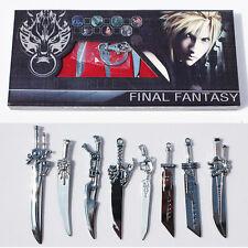 Final Fantasy Schlüsselanhänger Keychains Sammlerstück / 8x Schwerter / NEU