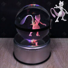 Crystal ball K9 Glass Pokemon Mewtwo 3D LED Night Light  Touch Table Lamp Gift