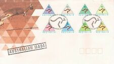 AUSTRALIA 1994 SELF ADHESIVE CASH MACHINE STAMPS SET 8 OFFICIAL FIRST DAY COVER