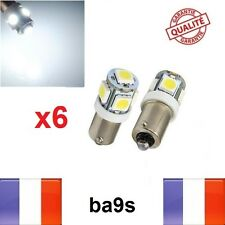 6X Ampoule BA9S T4W 5 LED 5050 SMD t11 6000K Blanc Pure Veilleuse Lampe Tuning