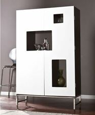 Liquor Storage Cabinet Furniture Dry Bar And Wine Mini Home Modern Stemware Rack