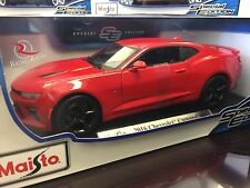 Maisto 1:18 Scale Special Edition Diecast Model- 2016 Chevrolet Camaro SS (Red)