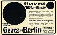 Triéder Binokel von C. P. Goerz A.G. Berlin Optische... Historische Annonce 1914