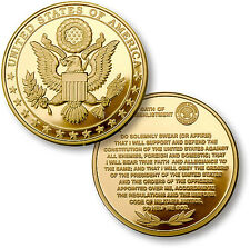 U.S. Military Great Seal / Oath of Re-Enlistment Challenge Coin