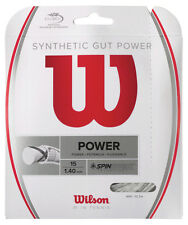 Wilson Synthetic Gut Power 1.30mm 16 Tennis Strings Set
