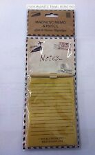 Vintage Magnetic Travel Memo Pad & Pencil Board Look Shopping List Fridge Notes