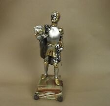 Gippe Vasari Hero Series Knight Silver & Gold Bronze Figurine