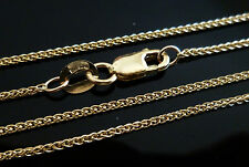 9ct Solid Yellow Gold Braided Wheat Chain Necklace - 50cm's 20 Inches  N16