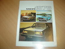 CATALOGUE gamme Volvo 1976