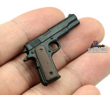 "1:6 Scale Weapon Toy Model Assembly Gun 4D Plastic Black M1911 For 12"" Figure"