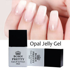 10ml BORN PRETTY Nail Art UV Gel Polish Opal Jelly White Soak Off Varnish DIY