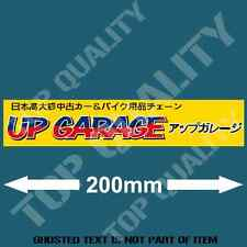 UP GARAGE JAPANESE Decal Sticker Retro Vintage RALLY JDM DRIFT DECALS STICKERS