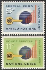 UN (NY) 1965 Special Fund/Money/Graph/Chart/Aid/Welfare 2v set (n41727)