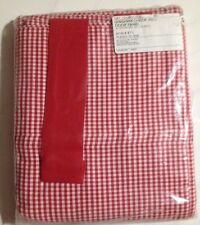 "SIngle DOOR FABRIC BLIND PANEL CURTAIN GINGHAM CHECK RED 30"" X 67"" ROLL UP NEW"