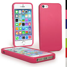 Pink Glossy TPU Case for New Apple iPhone 5 & 5S Mobile Phone 4G LTE Skin Cover