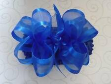 ROYAL BLUE Organza hair bow headband  BIG Boutique Cici's photo pageant clip