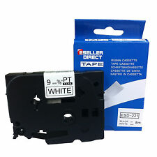 BROTHER 9mm COMPATIBLE WITH BLACK/WHITE TAPE TZ221 FOR P TOUCH PT PRINTER
