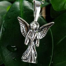 Schwere 925er Sterling Silber Schutzengel Kettenanhänger 2,7 cm