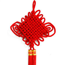 Chinese Lucky Knot Cross Stitch Tassel NewYear Decorations Big Red Flocking Knot