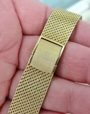 Heavy Vintage 18K Gold Watch Bracelet Band fit Omega Constellation Seamaster etc
