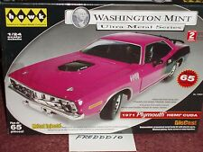 HAWK/WASHINGTON MINT 1971 PLYMOUTH BARRACUDA CUDA PURPLE MODEL KIT 1/24 SKILL 2