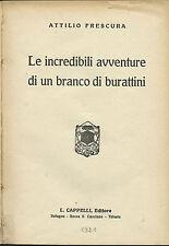 Frescura - Le incredibili avventure di un branco di burattini - Toddi 1921