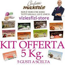 Confetti MAXTRIS 5Kg Confettata Bomboniere Matrimonio + di 100 Gusti a Scelta