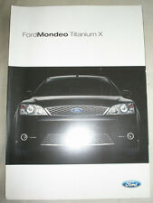 Ford Mondeo Titanium X brochure Jul 2004 Spanish text