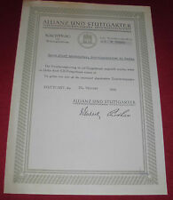 Assicurazione fittizio suppletivo riconversione A. d'oro fino Mark ALT antico alleanza 1934