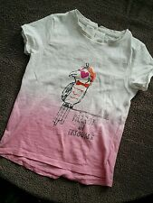 girl next tshirt used once pink and white parrot 4-5 years