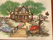 Big Farm House U get photo 2 RETIRED L@@K@examples Art Impressions Rubber Stamps