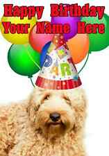 Labradoodle Dog Party Card codelab Birthday A5 Personalised Greeting card
