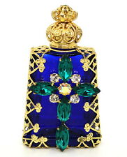 Czech Blue Victorian Style Decorative Christian Perfume/Oil Bottle/Wholesale