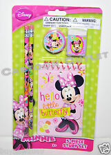 DISNEY MINNIE MOUSE 5PC STUDY KIT STATIONARY SET stocking stuffer gift PENCILS