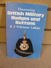 Discovering British Military Badges and Buttons FREE SHIPPING!!